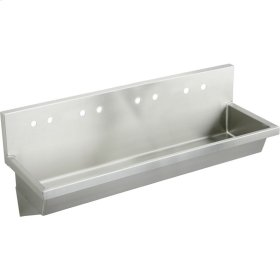 """Elkay Stainless Steel 96"""" x 20"""" x 8"""", Wall Hung Multiple Station Hand Wash Sink"""