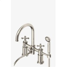 Dash Deck Mounted Exposed Tub Filler with Metal Handshower and Cross Handles STYLE: DSXT40