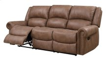 Spencer - Motion Sofa Sanded Microfiber Brown Pu