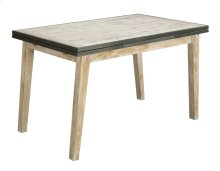 """Emerald Home Synchrony Extension Gather Table W/18"""" Ext Each End Pearl D112-13"""