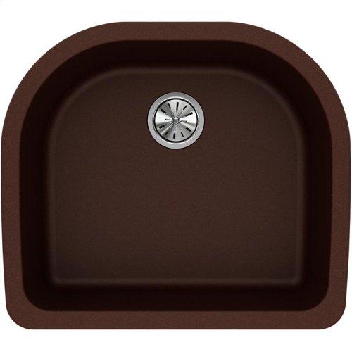 "Elkay Quartz Classic 25"" x 22"" x 8-1/2"", Single Bowl Undermount Sink, Pecan"