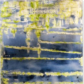 Art: Abstract Lime- Blue