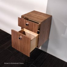 """Wall-mount or free-standing cabinet with two drawers, polished chrome pulls included. 13 3/8""""W, 13 3/8""""D, 17 3/4""""H"""