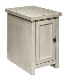 Calistoga White Chair Table w/Door