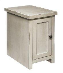 Calistoga White Chair Table w/Door