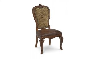 Old World Upholstered Back Side Chair