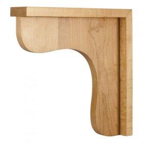 "2-1/2"" X 12"" X 12"" Wood Bar Bracket Corbel, Species: Hard Maple"