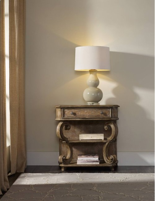 Solana One-Drawer Leg Nightstand