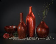 Candy Apple Red Tall Vase