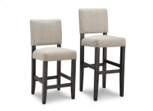 """Portland 24"""" Counter Chair in Fabric/Bonded Leather"""