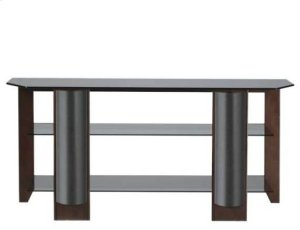 Mocha Video Stand Contemporary design and solid construction come together to create strength and beauty