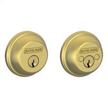 Double Cylinder Deadbolt - Bright Brass