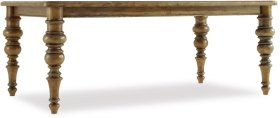 Auberose Rect Leg Dining Table w/2-20in leaves