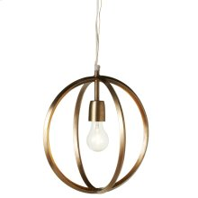 Gold Circles Pendant. 60W Max. Plug-in with Hard Wire Kit Included.