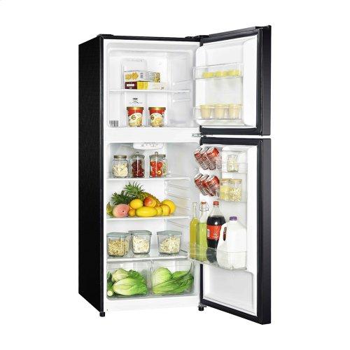10.1 Cu Ft Black Top Mount Refrigerator