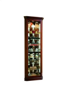 Victorian Cherry Front Entry Corner Curio