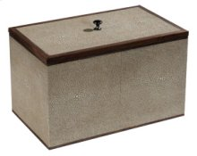 Medium Taupe Shagreen Box