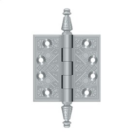 "3 1/2""x 3 1/2"" Square Hinges - Brushed Chrome"