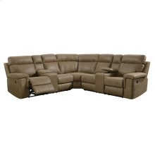 3pc Sectional-lsf & Rsf Power Motion Console Loveseats W/wedge-badlands-saddle#js1103de-075b