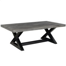 Zax Coffee Table in Distressed Grey