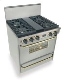 """30"""" All Gas, Convect, Sealed Burners, Stainless Steel with Brass Product Image"""