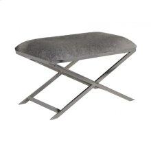 Stool 75x45x49 cm GRENA nickel cowskin grey