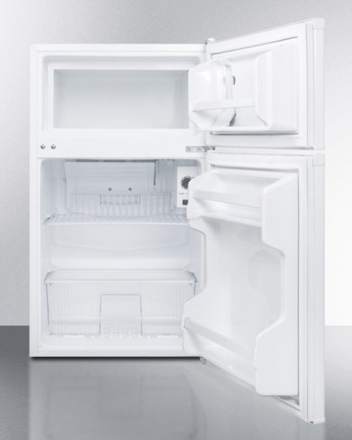 Compact Energy Star Listed Two-door Refrigerator-freezer With Combination Lock