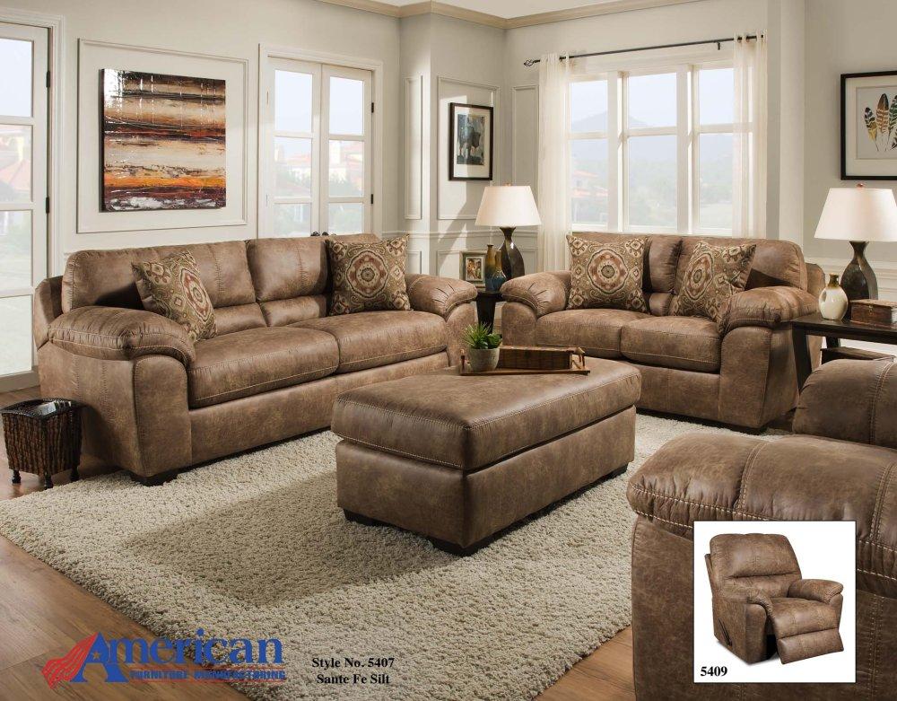 Charmant 5407   Santa Fe Silt Sofa