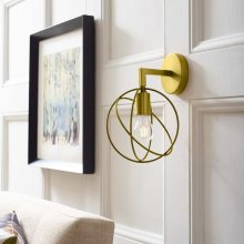 Perimeter Brass Wall Sconce Light Fixture