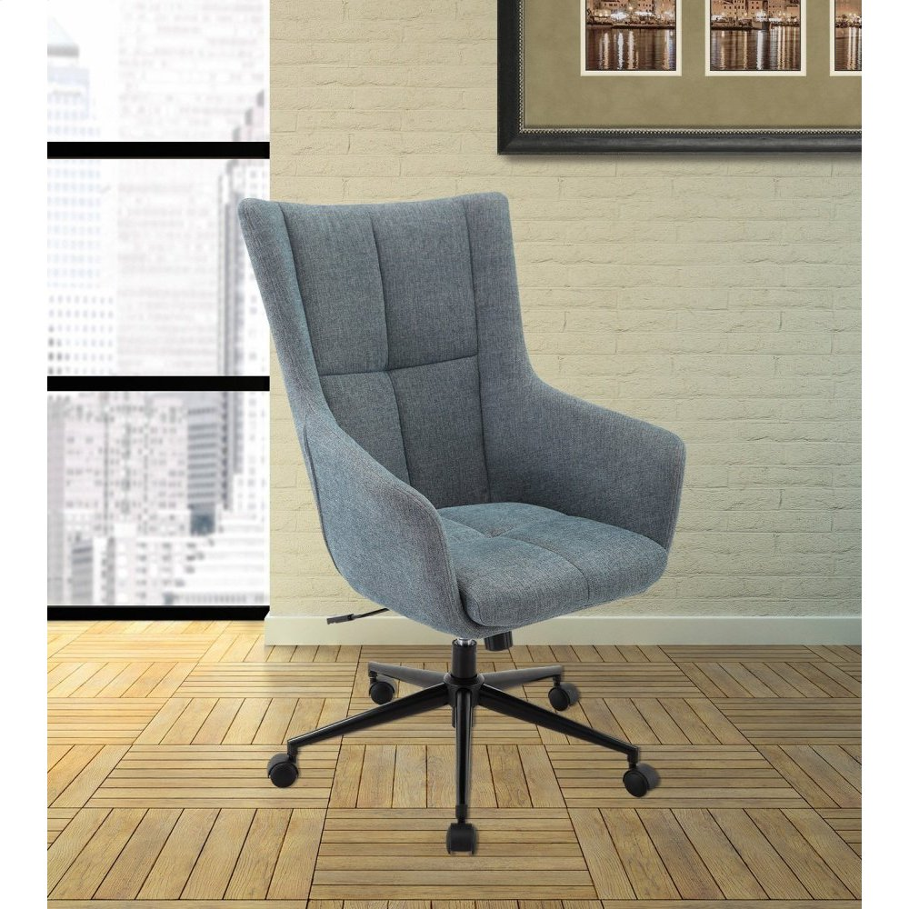 DC#206-AQU Fabric Desk Chair