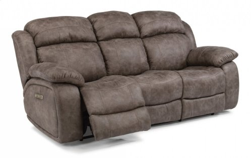 Como Fabric Power Reclining Sofa with Power Headrests