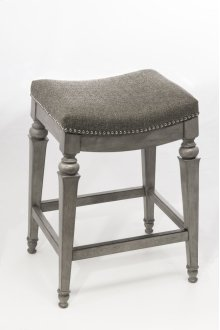 Vetrina Backless Barstool - Gray