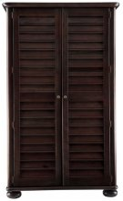 Harbor Town Armoire Espresso  Antique Product Image
