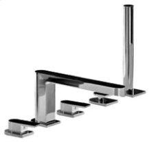 Deck-mount bathtub mixer