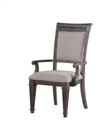 Arm Chair Filigree Back W/uph Back & Seat Light Grey