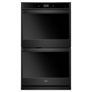 Whirlpool(R) 10.0 cu. ft. Smart Double Wall Oven with True Convection Cooking - Black - BLACK