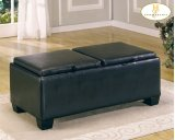 Rectangular Ottoman Cocktail Table with Storage Product Image