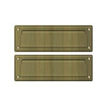 "Mail Slot 8 7/8"" with Back Plate - Antique Brass"