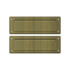 """Mail Slot 8 7/8"""" with Back Plate - Antique Brass"""