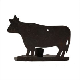 Iron Cow Candle Holder