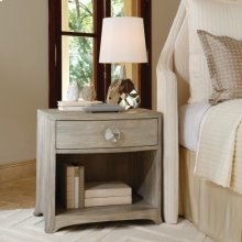 Bow Front One-Drawer Chest-Grey