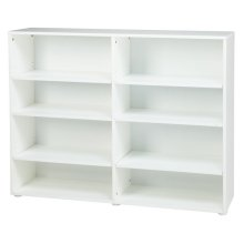 8 Shelf Bookcase : White