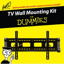 Tilting mount for most* 40 60 TVs including For Dummies installation guide and For Dummies step-by-step DVD video.