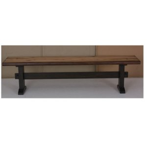 Burnham Farmhouse Mahogany Bench