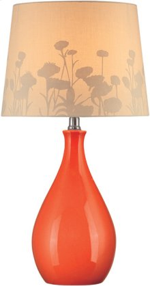 Table Lamp, Orn Ceramic Body/silhouette Paper, E27 Cfl 13w