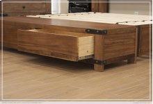 6/0 Storage Footboard w/ 2 Drawers & Rails