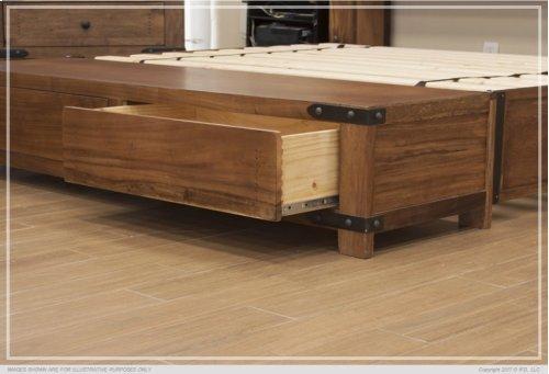 6/6 Storage Footboard w/ 2 Drawers & Rails