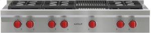 "48"" Sealed Burner Rangetop - 6 Burners and Infrared Charbroiler"