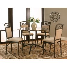 """Atlas 42"""" Faux Marble 5pc Dining Room Set"""