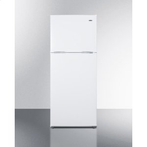 "SummitEnergy Star Qualified 24"" Wide 11.5 CU.FT. Frost-free Refrigerator-freezer In White Finish"